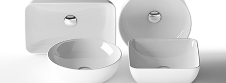 Umywalki ceramiczne Uni iUni Slim